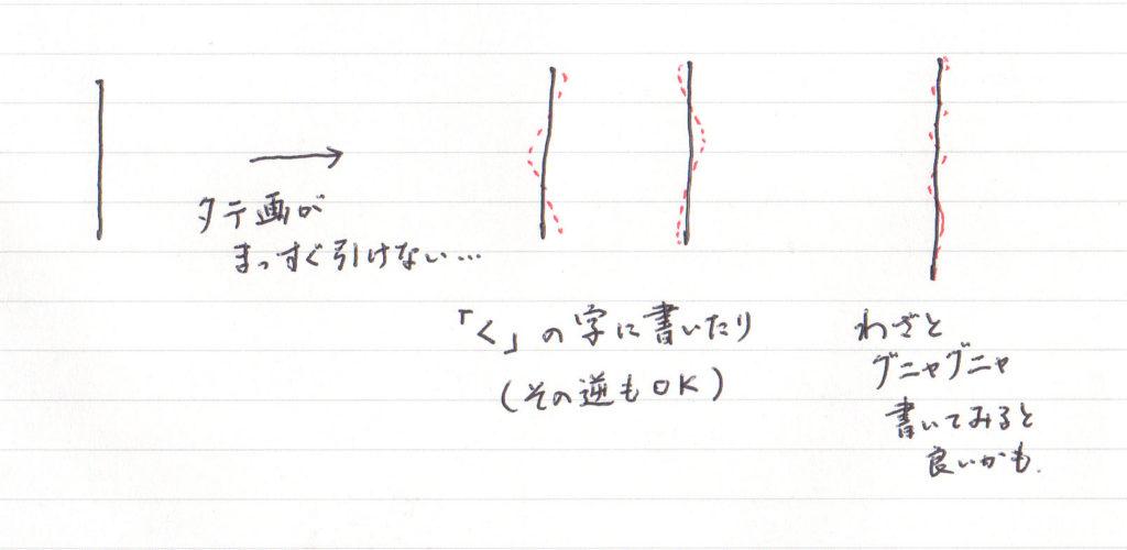 タテ画のテクニック1