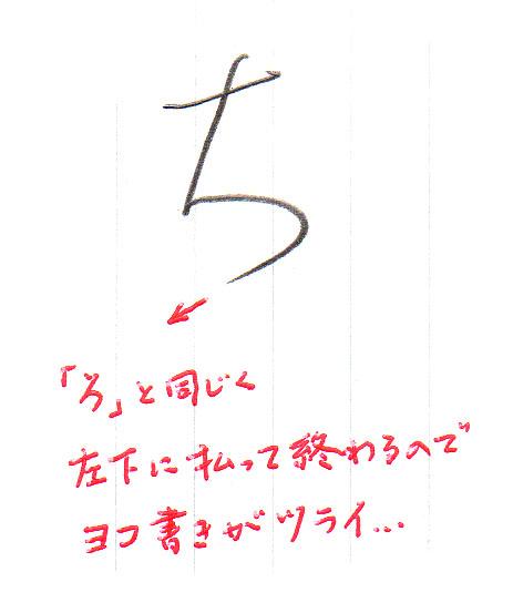 「ち」ヨコ書き1