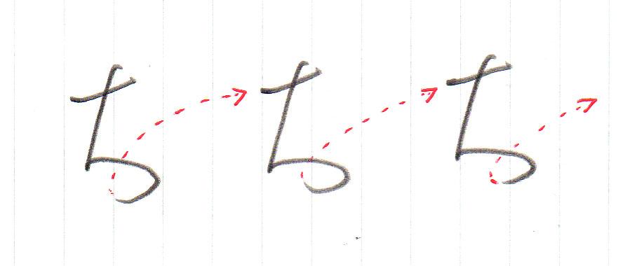 「ち」ヨコ書き2