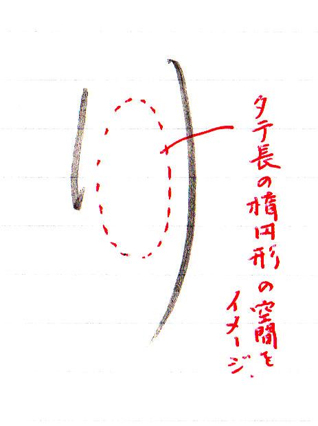 「り」中の空間をイメージ