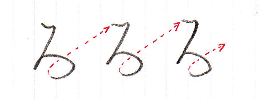 「ろ」をヨコ書きする書き方