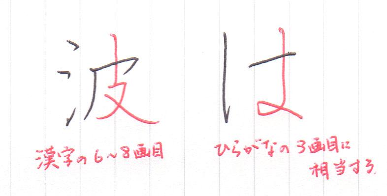 漢字の6‐8画、ひらがなの3画
