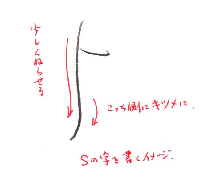 「よ」2画目の書き方