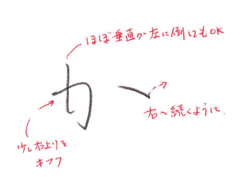 「か」ヨコ書き2