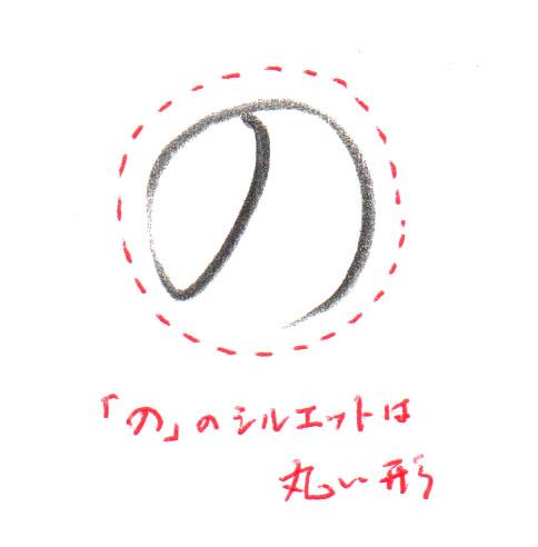 「の」シルエット