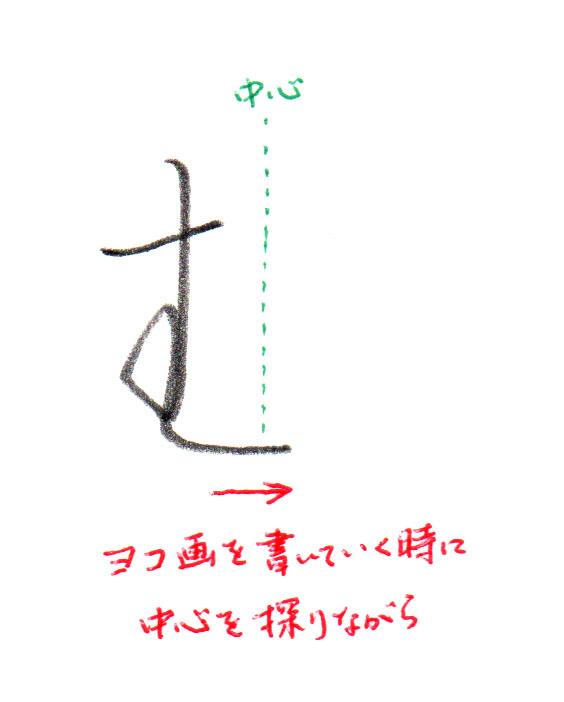 2画目のヨコ画