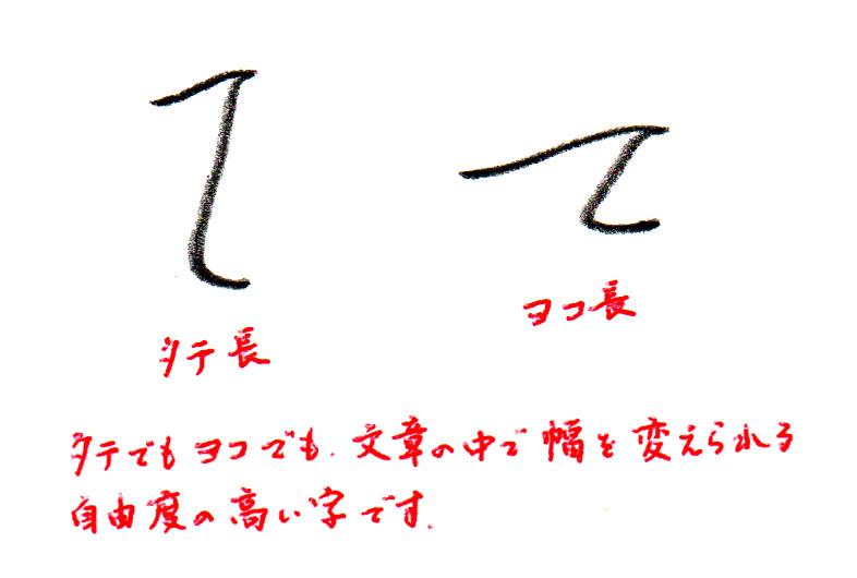 「て」シルエット2
