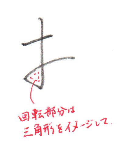 2画目の回転部分は三角形