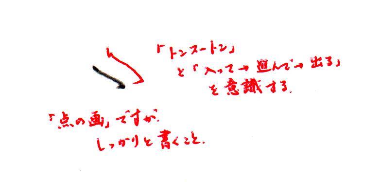 1画目.点の画だけどしっかり書くこと