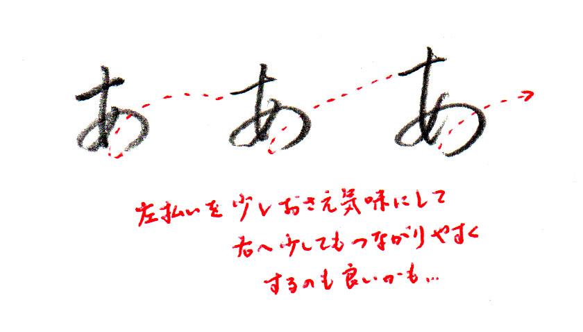 ヨコ書き「あ」2