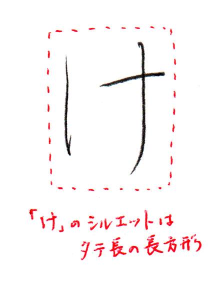 「け」シルエット1