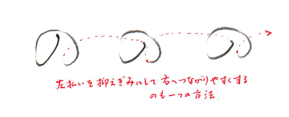 「の」ヨコ書き2