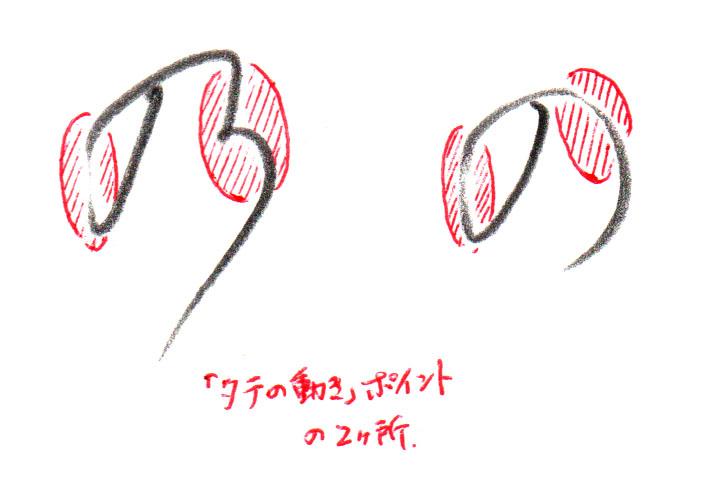 「の」「乃」タテポイント
