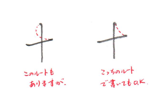 1~2画目のルート2パターン