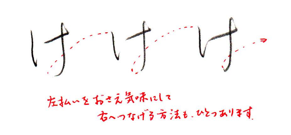 「け」ヨコ書き2