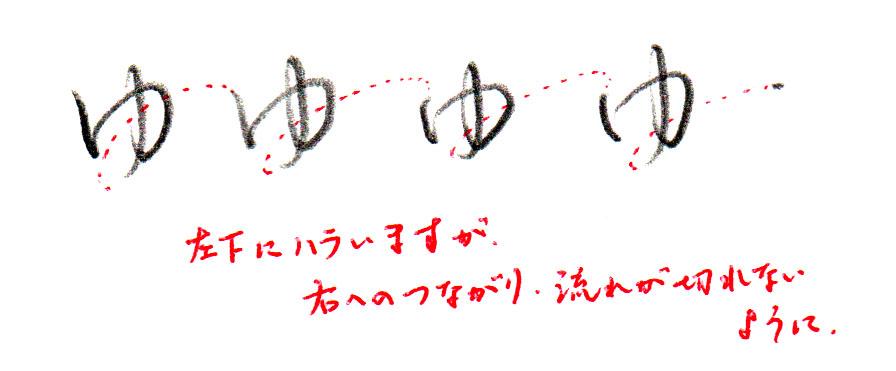 ヨコ書きの「ゆ」