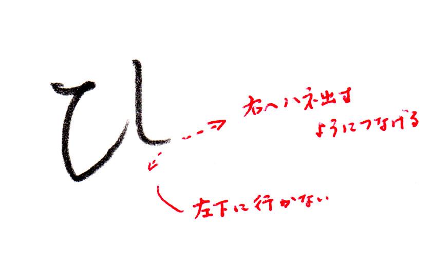 ヨコ書きの「ひ」1