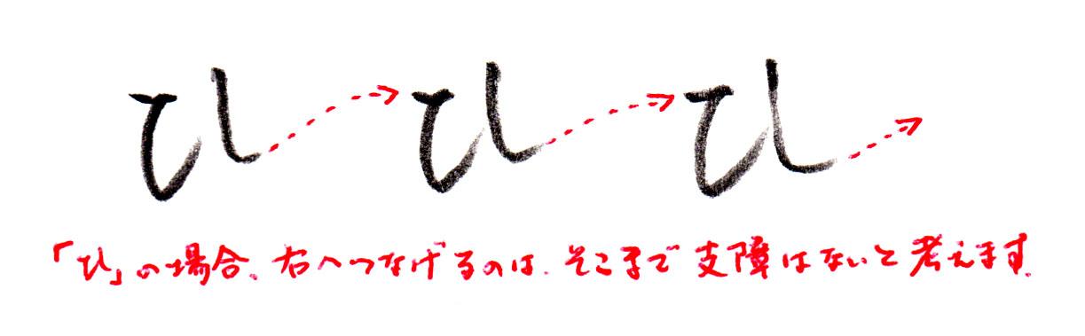 ヨコ書きの「ひ」2