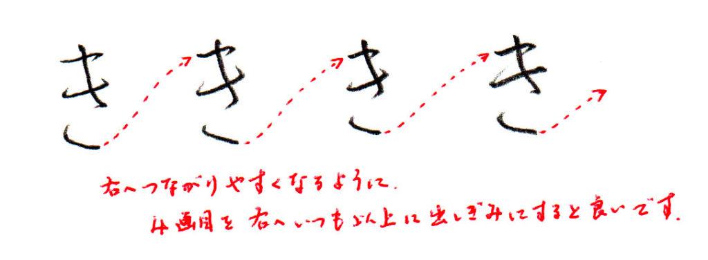 ヨコ書き「き」
